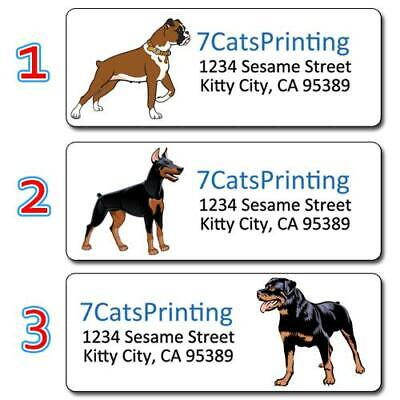 30 ANY Dog Return Address Labels Personalized Custom Photo or Graphic Dog Lovers