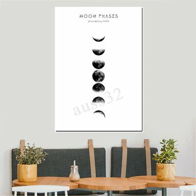 Moon Phases Abstract Canvas Print Painting Picture Wall Mural Hanging Home Decor