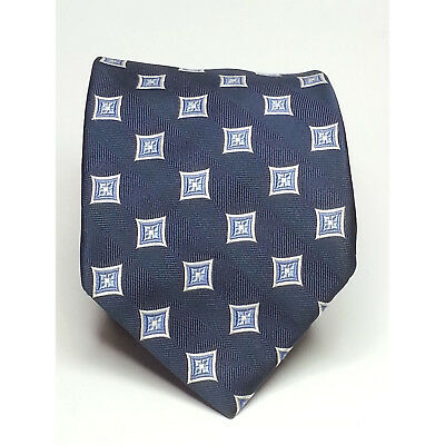 "Jos A Bank Men Dress Silk Blue Tie 3.5"" wide 62"" long"