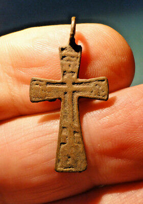 Early Bronze Reliquary Cross Pendant (possibly Medieval) found in Ireland