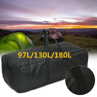Foldable Large Capacity Outdoor Travel Duffle Bag Black Driving Oxford Rucksack