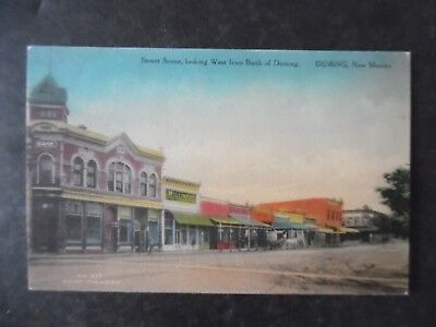 ca1910 Deming New Mexico Street Scene Hand Color Fred Harvey Postcard No 257