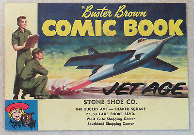 Vintage Buster Brown Comic Book Jet Age Advertising 1950s Stone Shoe Cleveland