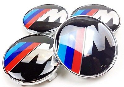 BMW M Sport Set of 4 New Alloy Wheel Centre Caps 68mm Top Quality