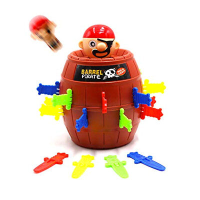 Jumping Pirate Barrel Game Kids Pop Up Toy Funny Family Christmas Xmas Classic