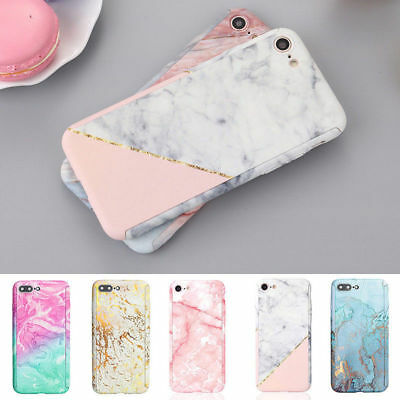 Case for iPhone XS 6s 7 8 Plus Cover 360 Marble Ultra Thin Shockproof Hybrid