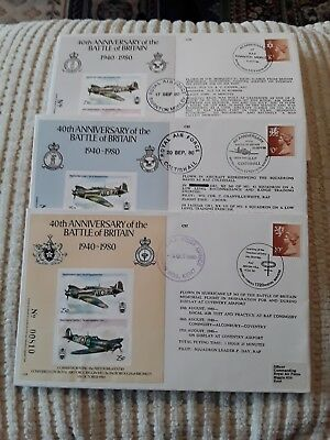 40Th Anniversary Of The Battle Of Britain 1940 - 1980  3 Raf Covers