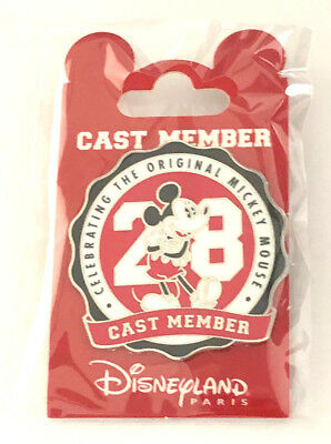 Pin's Mickey 90 Ans Anniversaire Cast Member Exclusif 2018 Disneyland Paris Neuf