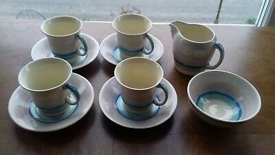Art Deco Susie Cooper Wedding Band coffee set  circa  1930s