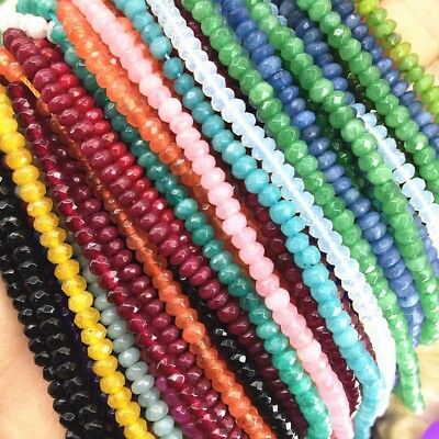 "Wholesale 2x4mm Natural Rondelle Faceted Gemstone Abacus Loose Beads 15"" Jewelry"