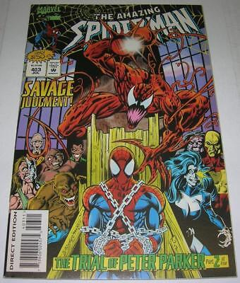 AMAZING SPIDER-MAN #403 (Marvel Comics 1995) CARNAGE appearance (FN/VF)
