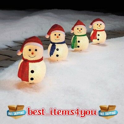 Set Pathway Snowman LED Lighted Christmas Outdoor Lawn Yard Home Decor Backyard