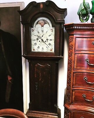 Grandfather Clock. 8 Day, Moonphase. Henry Fielders Of Tamworth.