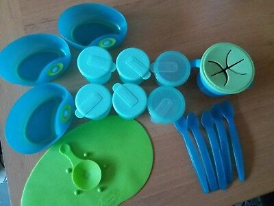 Tommee Tippee Magic Mat, Weaning Pots, Bowls Spoons And Snack Pot Bundle