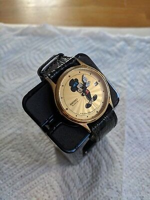 Seiko Sunburst Mickey Mouse Quartz Watch with top hat Not Working