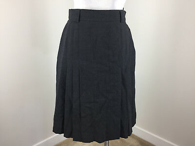 13f7adc43b Vintage Escada 38 S 6 Gray Wool Skirt Pleated A Line Excellent Career