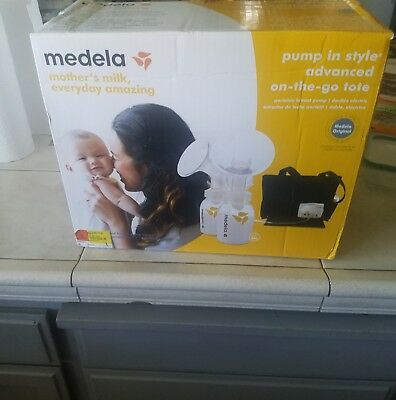 NEW SEALED Medela Pump in Style Advanced Breast Pump with On the Go Tote 57063