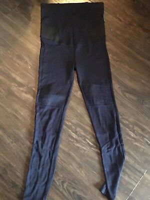 Ex H&m Maternity Leggins Navy Blue Size 8