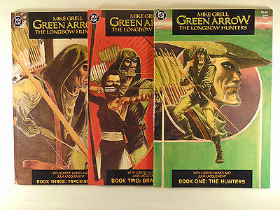 Green Arrow #1,2,3  1987 unopened high grade Mike Grell