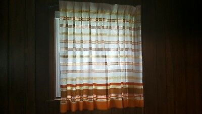 Sears pinch pleat vintage curtains drapes orange set of 4 panels standard window