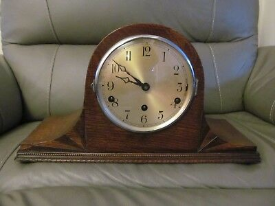 Large Vintage Westminster Chime Art Deco Mantel Clock