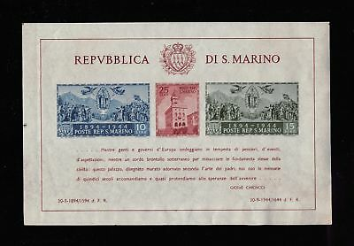 Lot of 3 1944 San Marino MLH Mint Stamps Scott # 239 on Souvenir Sheet #119980 X