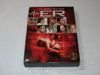 ER - The Complete Third Season DVD 2005 6-Disc Set NR TV Show George Clooney