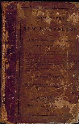 RARE 19th Century 1831 Geography New Hampshire NH, New England Land Formations