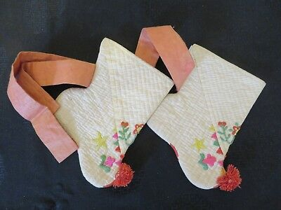 Very Uncommon Korean Baby/Children's Socks or Shoe Liners With Ties Fine!