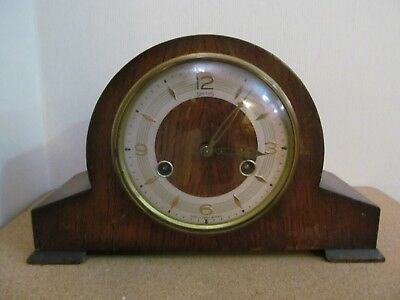 Vintage Smiths Floating Balance Chiming Mantel Clock  Spares Or Repair