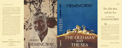 Ernest Hemingway THE OLD MAN AND THE SEA replica jacket for 1st edition book