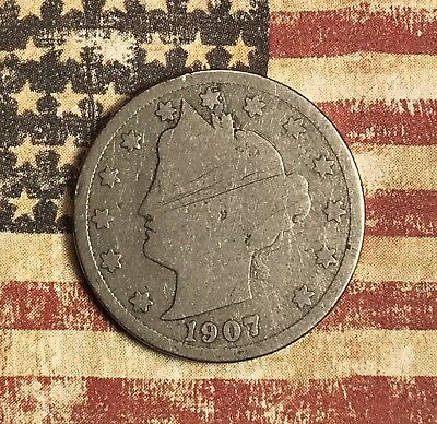 1907 Liberty V Nickel. Collector Coin For Your Collection.