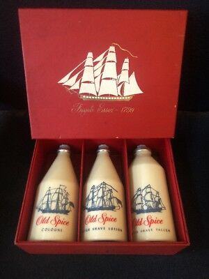 Vintage Shulton Old Spice 1960's Gift Set 3385P Frigate Essex. New Old Stock.