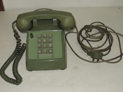 # Vintage Bell System Western Electric Avocado Green Touch Tone Telephone  #