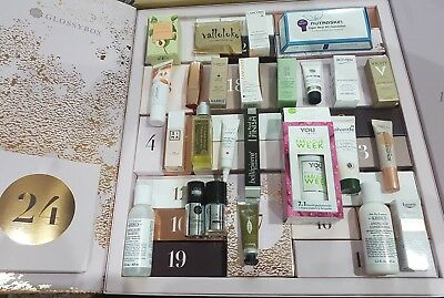 Adventskalender Luxus Proben Glossybox 2018 Beauty Clinique Kiehls Biotherm