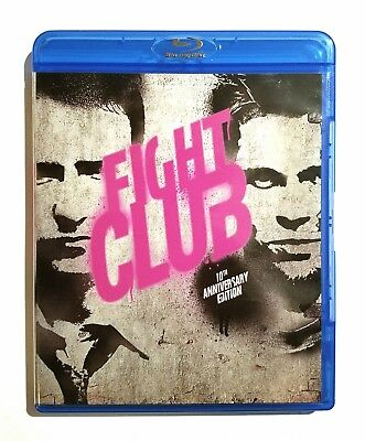 Fight Club (1999) Like New 10th Anniversary Ed. Blu-ray Edward Norton, Brad Pitt