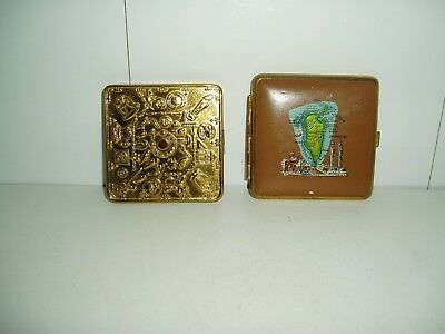 Two Vintage Collectable Ladies Compacts