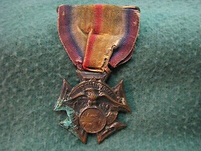 Vintage U.S.Military WW l  UNITED STATES FORCES Medal W/ Ribbon  Dearborn County