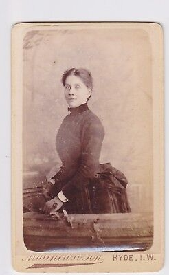 Victorian cdv photo young woman standing Ryde Isle of Wight  photographer