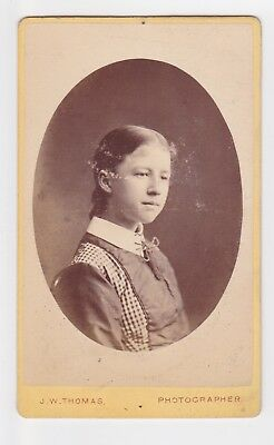 Victorian cdv photo portrait young girl Hastings  photographer