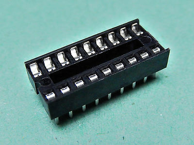 """10x IC SOCKET Stamped and Formed Contacts DIL Socket 18 Way 0.3"""""""