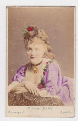 Victorian cdv photo actress stage star  Mdlle Sessi London  photographer
