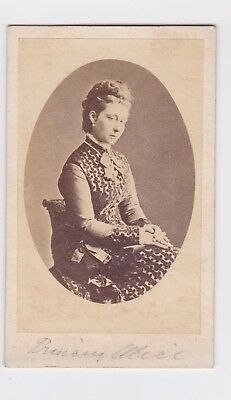 Victorian cdv photo Royalty Princess Alice  unstated  photographer