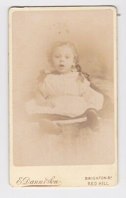 Victorian cdv photo baby ribbons curls Redhill   photographer