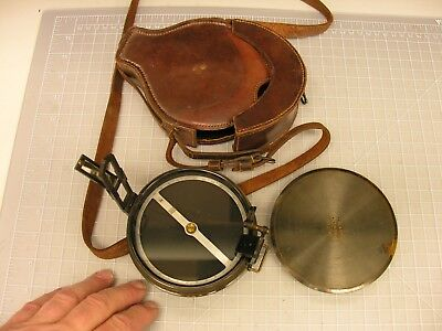 ~ Very Large Prismatic Compass, with horizon filters & N. Star mirror, w/case ~