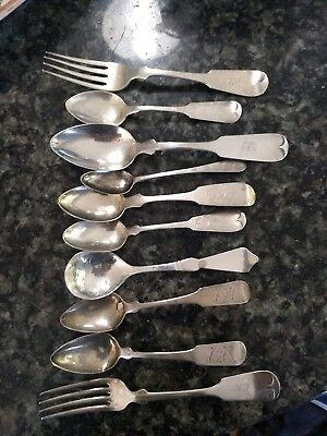 Historical Collection of Family Forks & Spoons  Coin & Sterling Bucks County PA