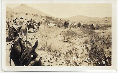 RP Freight Wagons in New Mexico 1910s Near Deming ? Postcard