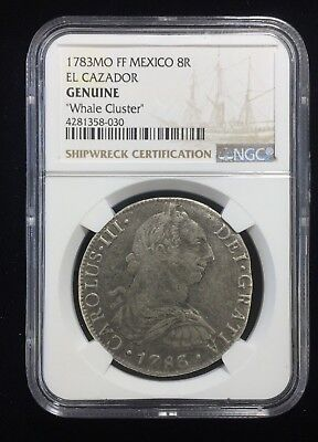"1783 MFF Mexico 8 Real El Cazidor ""Whale Cluster"" NGC Genuine"