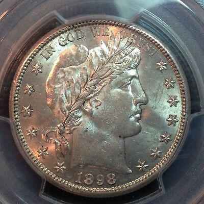 PCGS MS-63  1898-S  Barber Half Dollar   Sharp Strike, Nice Coin
