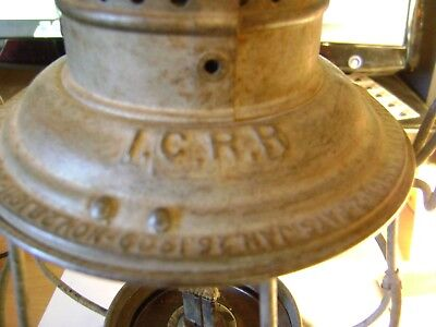 Illinois Central Railroad Icrr Lantern Vintage  No Globe